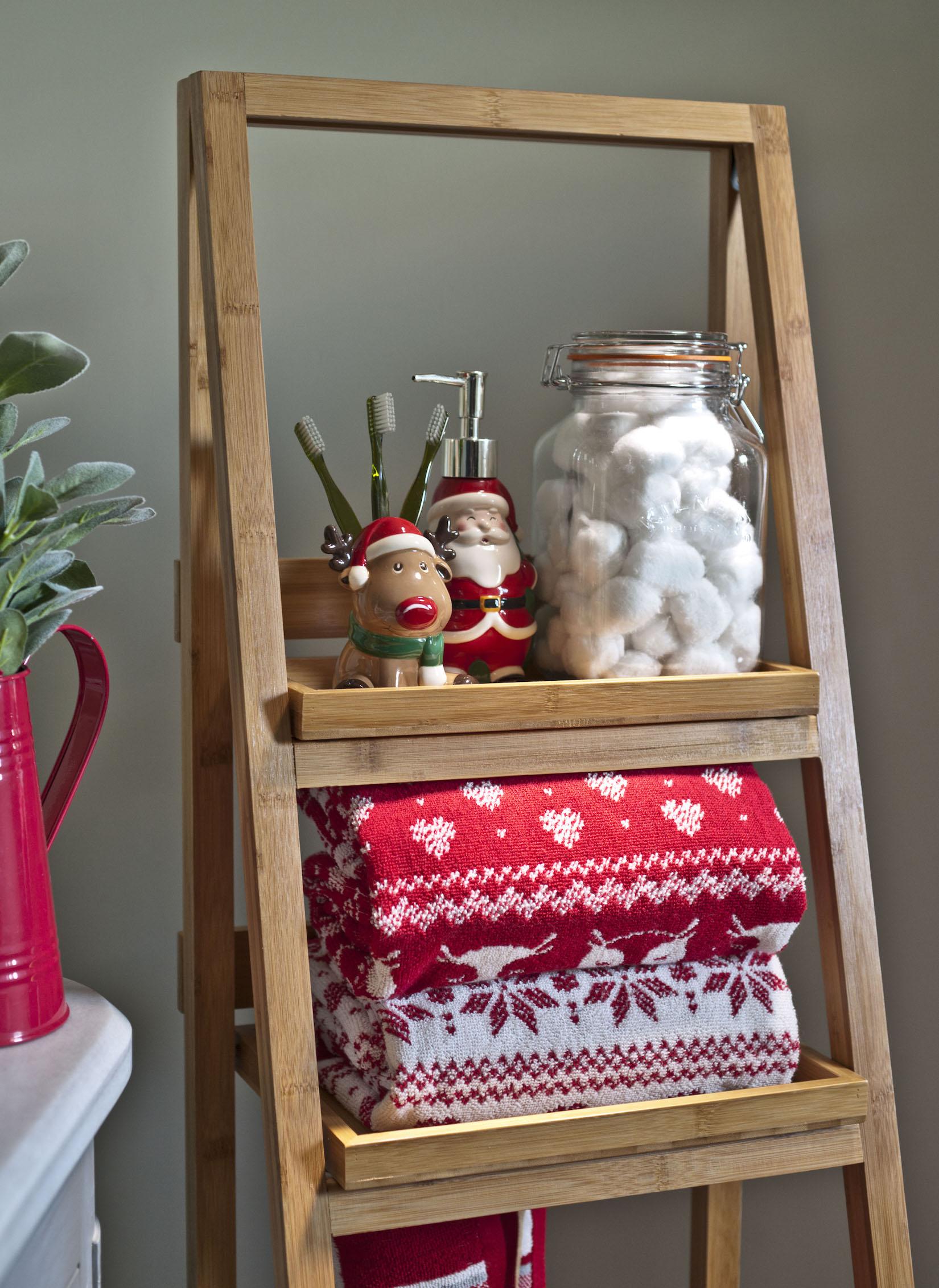 Vánoční dekorace do koupelny od Heatons