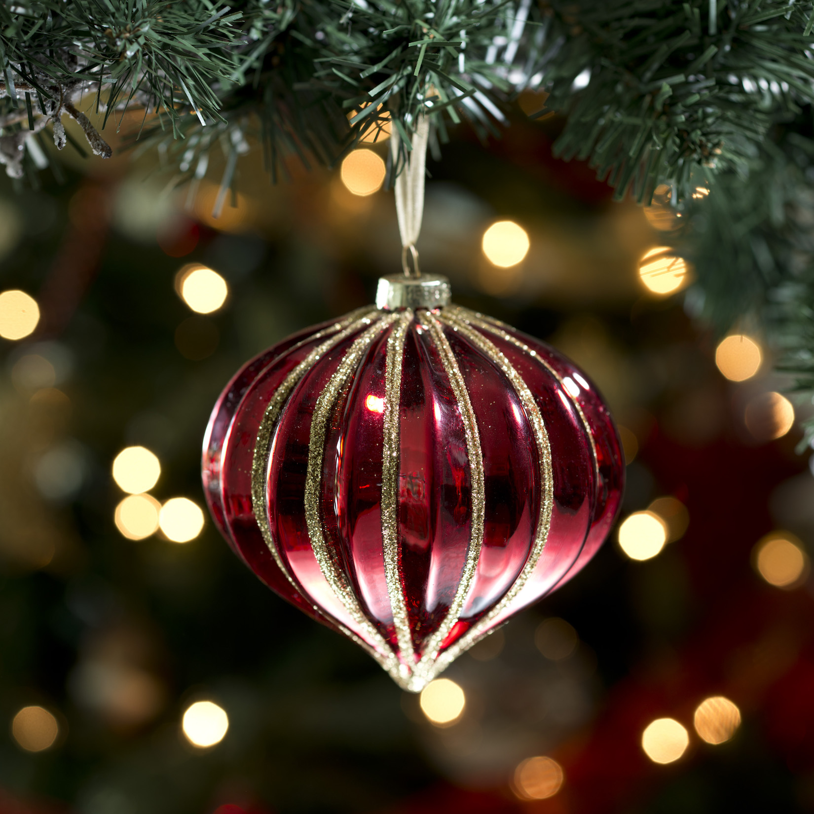 Červené vánoční ozdoby na stromeček       od Heatons