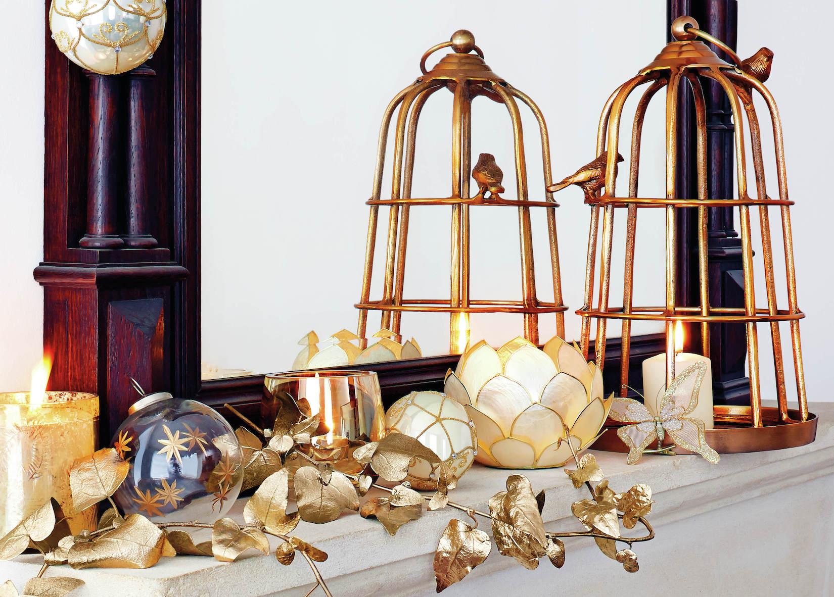 Zlata v mnoha odstínech představuje velký trend letošních svátků. Velký výběr najdete např. v Homesense