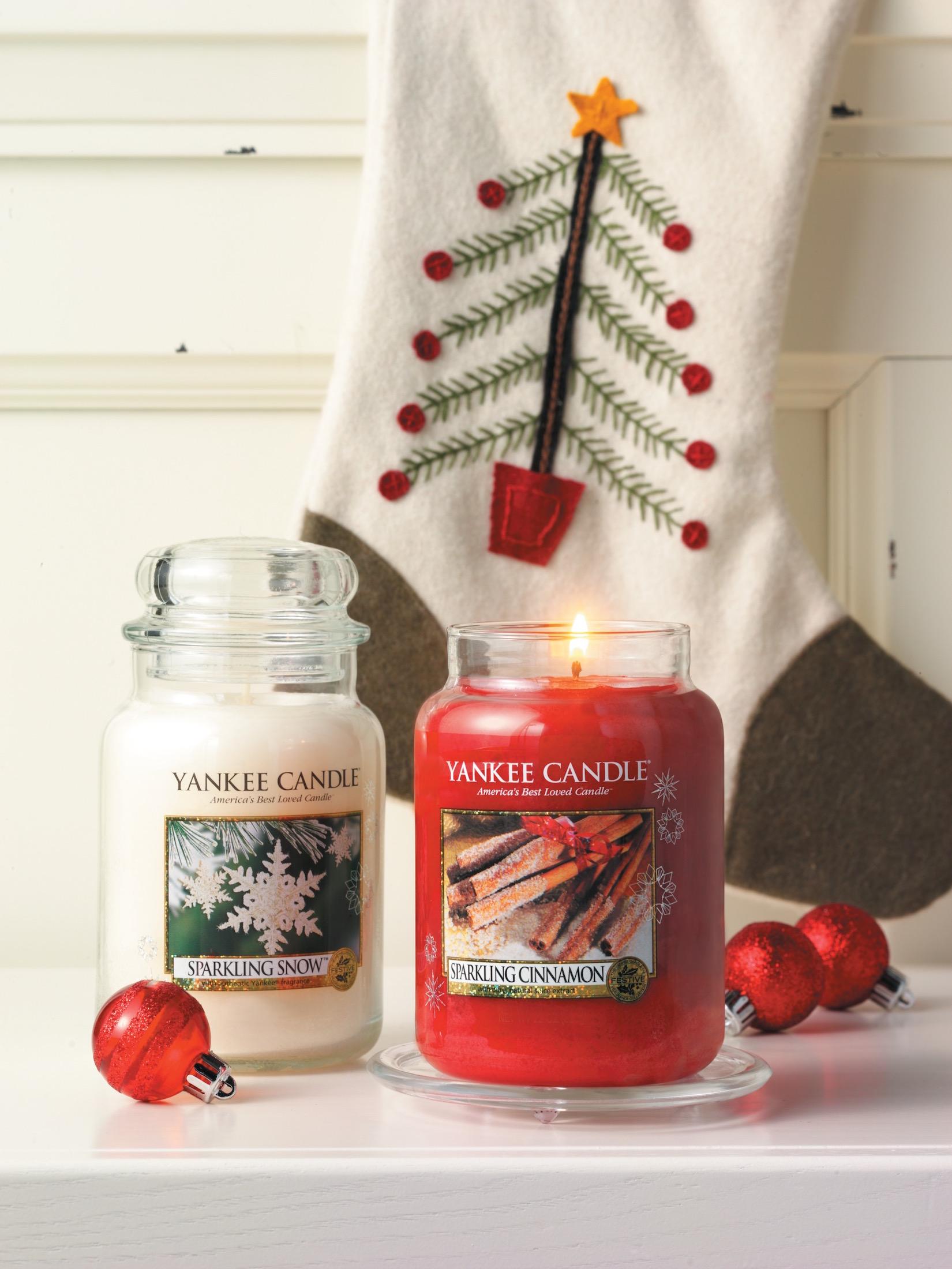 Vonné svíčky Yankee Candle z vánoční edice