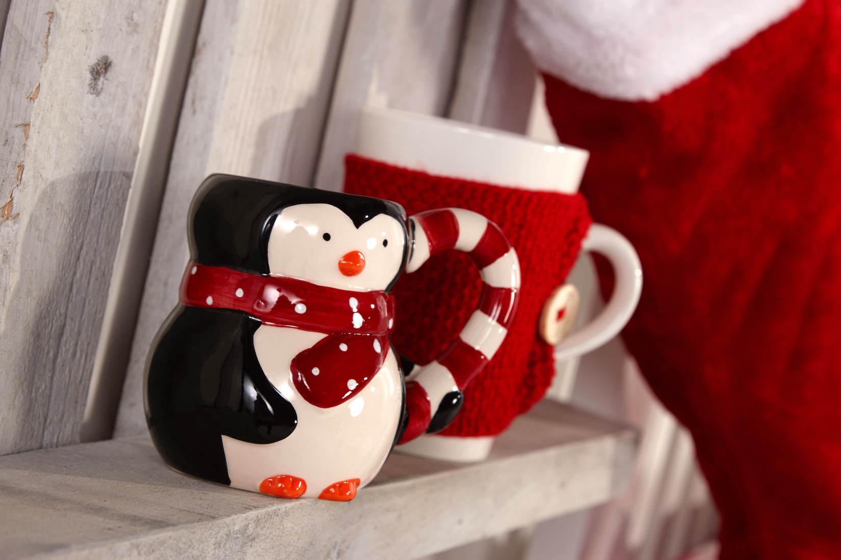 Vánoční hrnečky v červených odstínech od Penneys