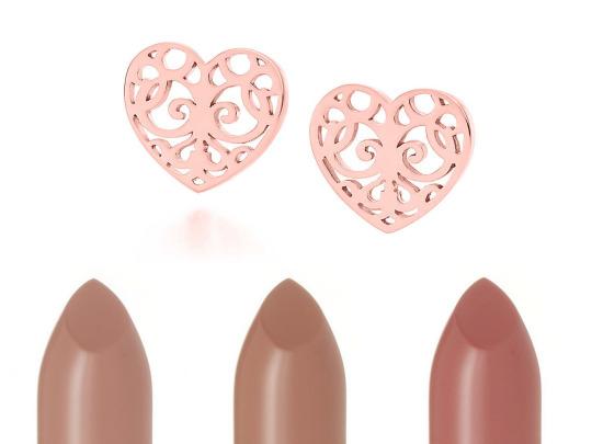 Náušnice Tiffany Enchant z kovu Rubedo Rtěnky Charlotte Tilbury K.I.S.S.I.N.G Lipstick v odstínu Nude Kate, Penelope Pink a B*tch Perfect